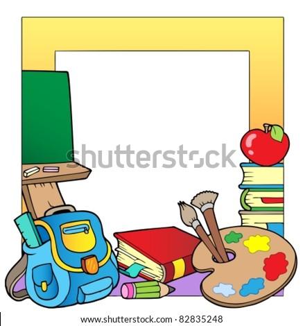 School theme frame 2 - vector illustration.