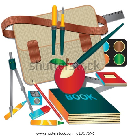 School themed vector illustration