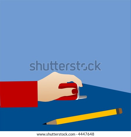 school time  or meeting vector cell and pencil with copyspace