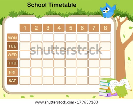 school timetable for preschool