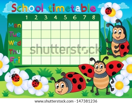 School Timetables to Print School Timetable Topic Image 5