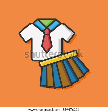 school uniform vector icon