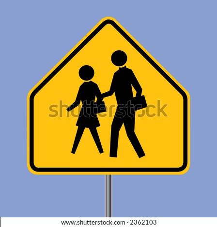 School warning sign - VECTOR