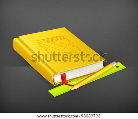 Schoolbook, vector - stock vector