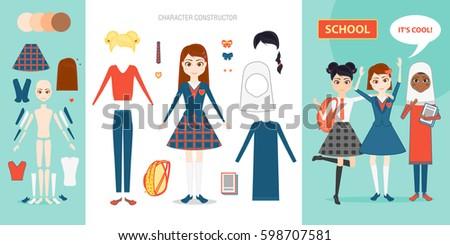 schoolgirl character