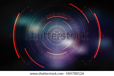 Sci-fi futuristic crosshair. HUD user interface. Technology background. Spaceship hightech target screen concept. Vector illustration