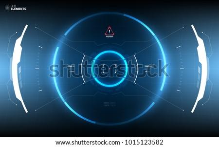 sci fi futuristic hud dashboard