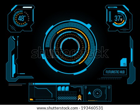 Sci fi futuristic user interface HUD. Vector illustration.