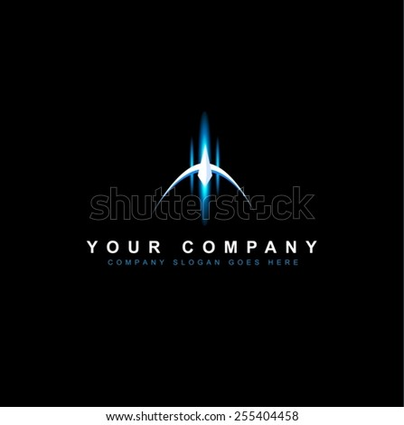 Sci Fi Logo Design Vector. Creative futuristic logo. Space Logo.