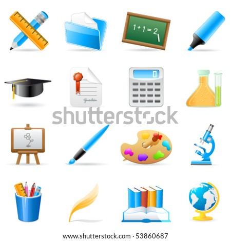 science and art icons - vector illustration