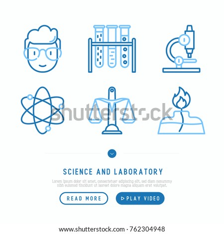 science and laboratory thin...