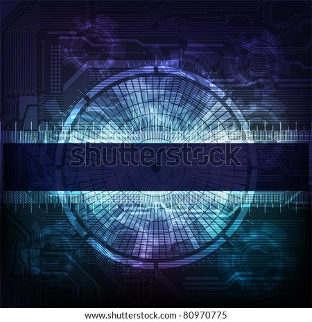 Science and modern technology theme vector banner. Eps10 layered vector.