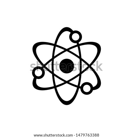Science atom symbol icon vector EPS 10 illustration