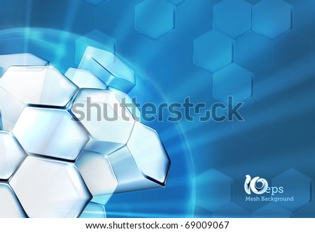 Science Background Blue, 10eps - stock vector