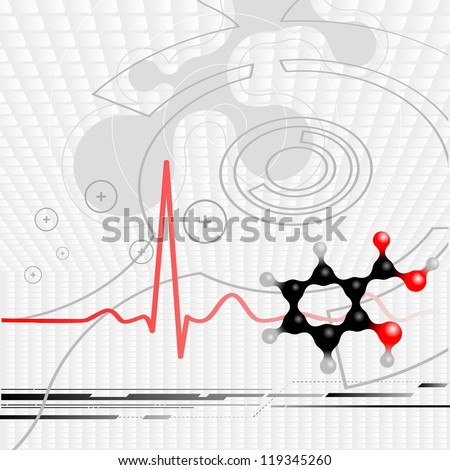 Science background, medical, health care illustration, technology wallpaper.
