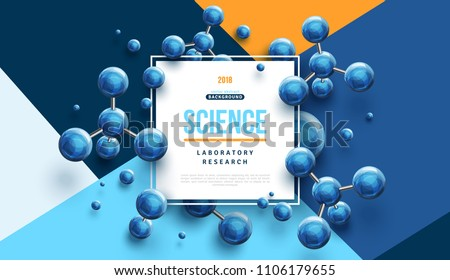 science banner with square