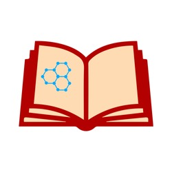 science book icon. Logo element illustration. science book symbol design. colored collection. science book concept. Can be used in web and mobile