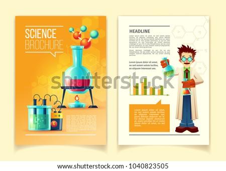 science brochure vector