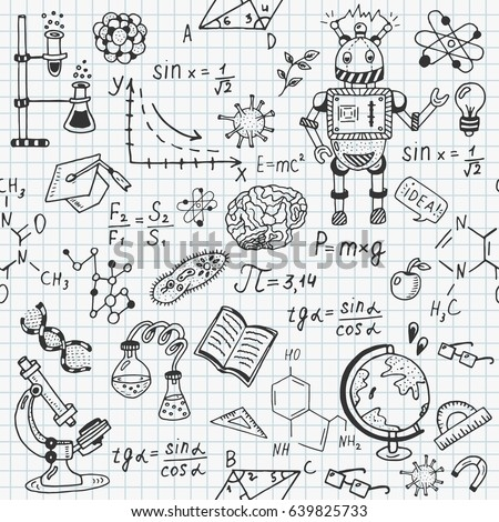 science education doodle set of