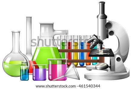 science equipment with