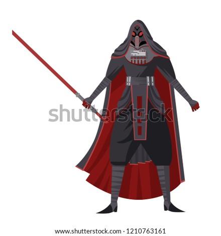 Stock Photo science fiction evil monk lord ninja