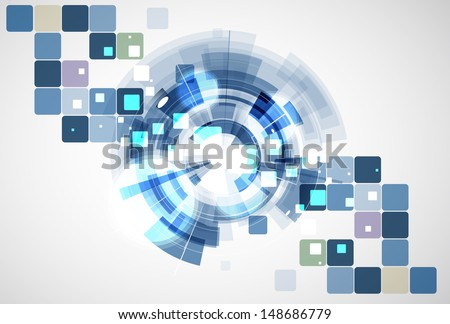 science futuristic internet high computer technology business background
