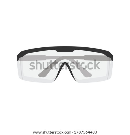 Science Goggles, Protective Glasses, Plastic Goggles, PPE, Personal Protective Equipment, Vector Illustration Background