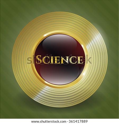 Science gold emblem
