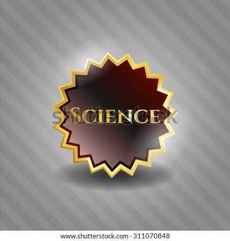 Science gold shiny badge