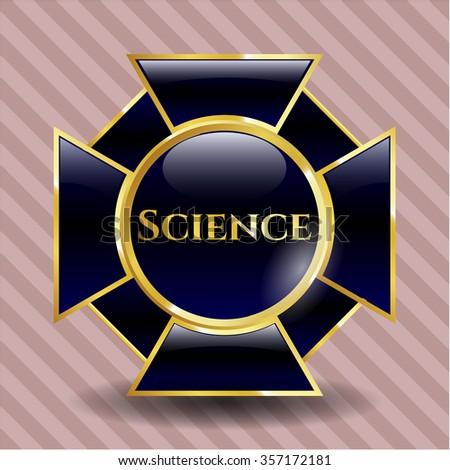Science golden emblem