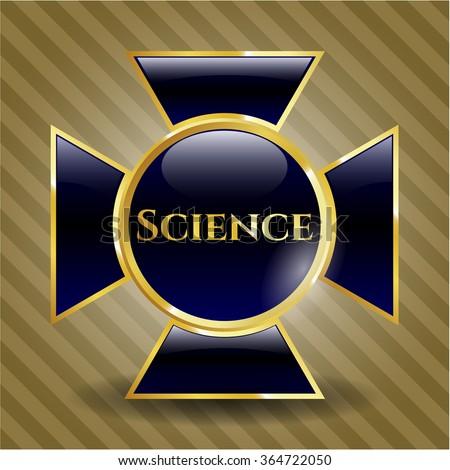 Science golden emblem or badge
