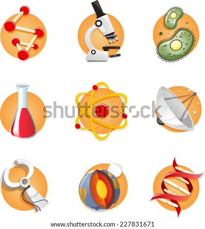science icon collection  with