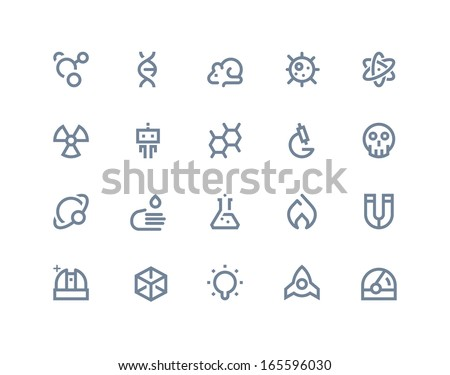 science icons line series