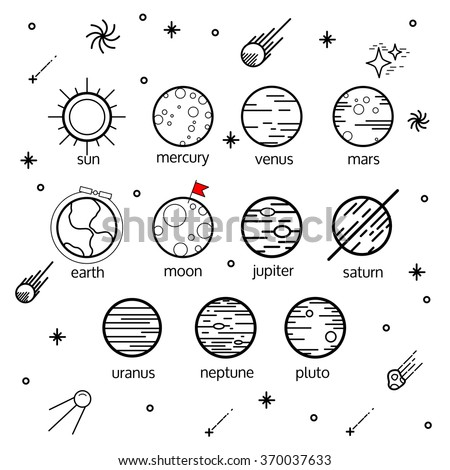 Science Illustration With Stars And Planets Use For Prints Web Posters Invitations