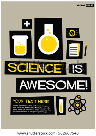 science is awesome   flat style