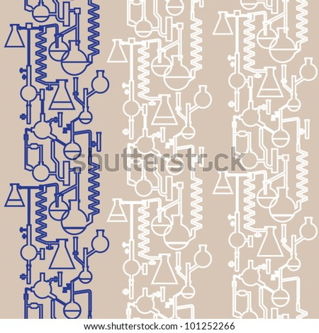 stock vector : Science lab banner seamless vector