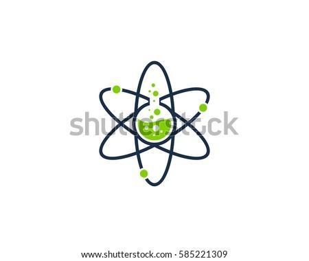 Science Lab Logo Design Element