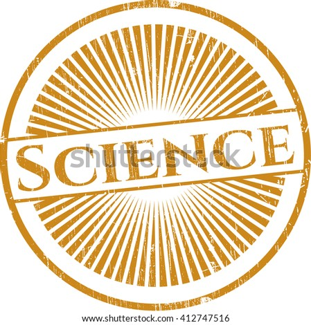 Science rubber grunge seal