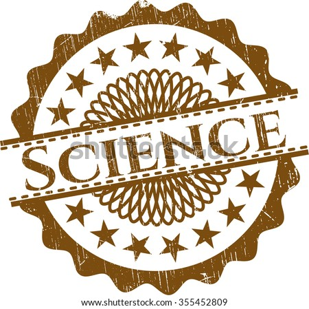 Science rubber grunge texture seal