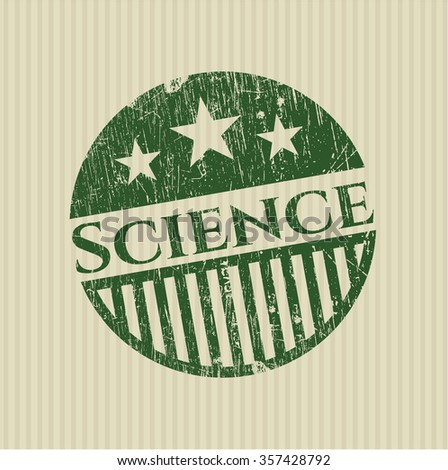 Science rubber grunge texture stamp