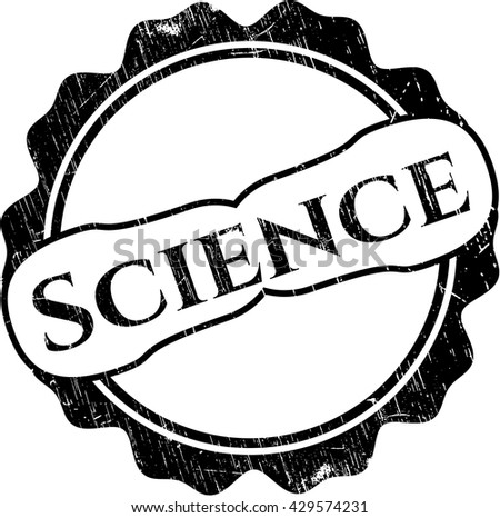 Science rubber stamp with grunge texture