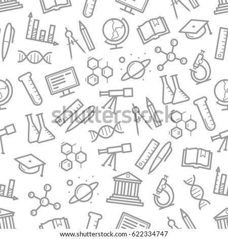 science seamless pattern of