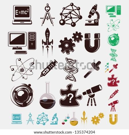 science set - stock vector