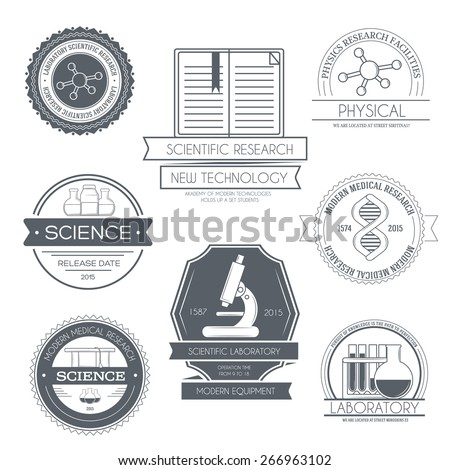 science set label template of