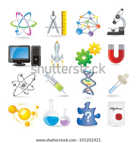 science set of icons