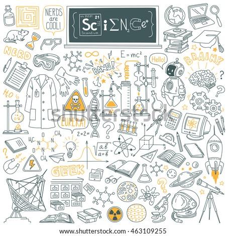 science stuff doodle set