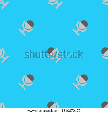 Science, technology and mobile devices. Repeating flat Notification microphone sensitivity medium icon background pattern. Design for wrapping paper or greeting card.