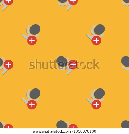 Science, technology and mobile devices. Repeating flat Notification microphone sensitivity muted icon background pattern. Design for wrapping paper or greeting card.