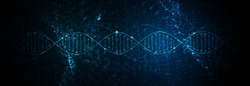 Science template, abstract background with a DNA molecules. Vector illustration.