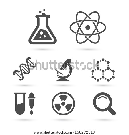 science trendy icons pack for